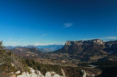 Sommet de la Cochette- Granier et Mont Blanc