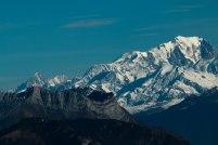 Sommet de la Cochette.Vue sur Mont Blanc et Dome du Gouter