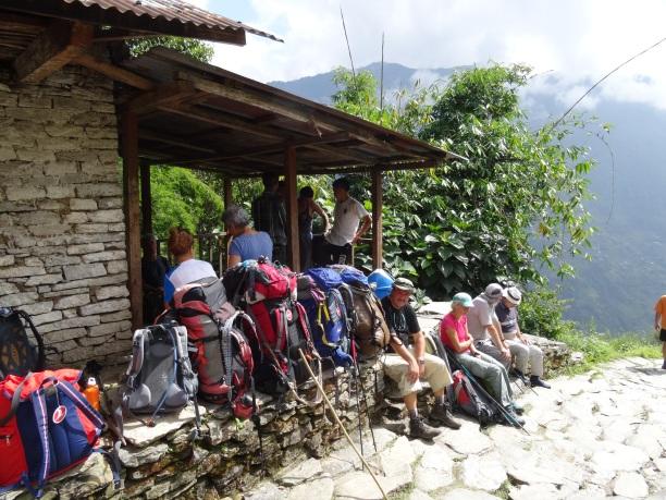Le groupe à Gandrhuk
