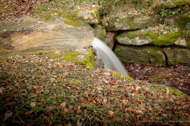 petite cascade entre les étangs de St Didier de Bizonnes