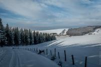Aubrac. Vue sur le hameau des Brouillets. 1 140 m