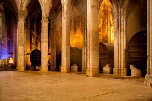 Abbaye de Valmagne . Les chapelles axiales et le Chai