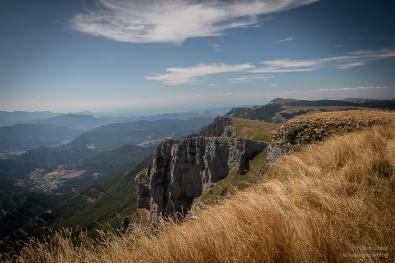 Depuis le Plateau de Beurre , vue vers le Col du Rousset et le Diois