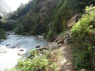 Bord de la Langtang Khola