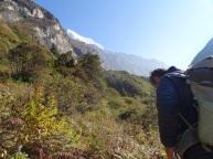 En chemin vers Langtang Village