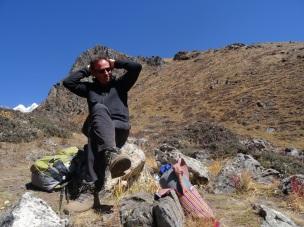 Dans la descente du Kyanjin Ri