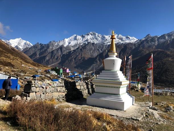 Chorten et Himalaya