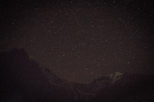 Nuit bleutée sur l'Himalaya